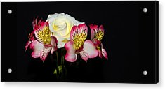 Flowers Acrylic Print by Cecil Fuselier