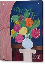 Flowers For Madear Acrylic Print by Mildred Chatman
