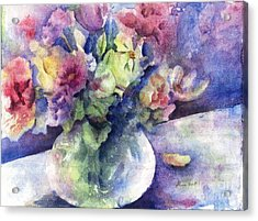 Flowers From The Imagination Acrylic Print by Maria Hunt