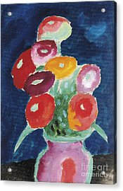 Flowers In A Vase  Acrylic Print by Celestial Images
