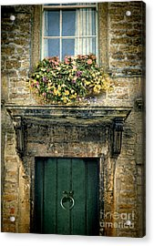 Flowers Over Doorway Acrylic Print by Jill Battaglia