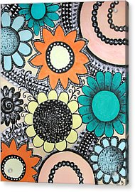 Flowers Paradise Acrylic Print by Home Art