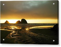 Flowing Into The Ocean Acrylic Print by Jeff Swan