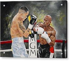 Floyd Mayweather Acrylic Print by Don Medina