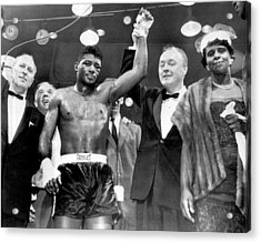 Floyd Patterson After Win Acrylic Print by Retro Images Archive