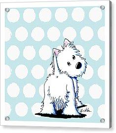 Fluffy Butt Westie Acrylic Print by Kim Niles