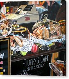 Fluffy's Cafe Acrylic Print by Anthony Mezza