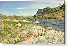 Fly Fishing Stillwater River Montana Acrylic Print by Jennie Marie Schell