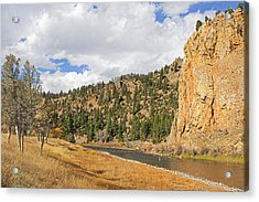 Fly Fishing The Big Hole River Montana Acrylic Print by Jennie Marie Schell