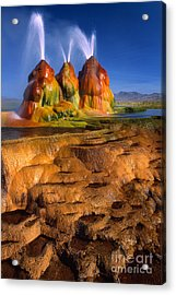 Fly Geyser Acrylic Print by Inge Johnsson