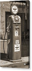 Flying A Gasoline - National Gas Pump 2 Acrylic Print by Mike McGlothlen