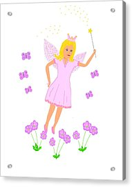 Flying Fairy Princess Acrylic Print by Janet Davies