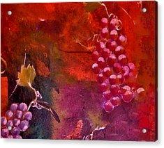 Flying Grapes Acrylic Print by Lisa Kaiser