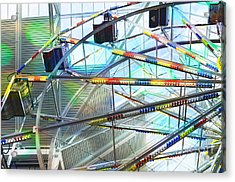 Flying Inside Ferris Wheel Acrylic Print by Luther   Fine Art