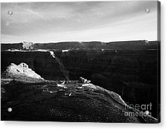 Flying Over Land Approaches To The Rim Of The Grand Canyon At Eagles Point In Hualapai Indian Reserv Acrylic Print by Joe Fox