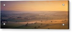 Fog Over A Landscape, Blackmore Vale Acrylic Print by Panoramic Images