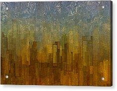 Fog Over Midtown Acrylic Print by Jack Zulli