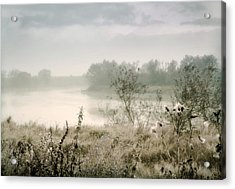 Fog Over The River. Stirling. Scotland Acrylic Print by Jenny Rainbow