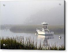 Foggy Anchor Acrylic Print by Carl Jacobs