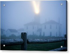 Foggy Day At The Lighthouse Acrylic Print by Allan Millora Photography