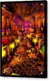 Foggy Dreams - Scratch Art Series - # 28 Acrylic Print by Steven Lebron Langston