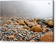 Foggy Frosting On The Rocks Acrylic Print by Brent L Ander