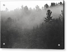 Foggy Hillside - Norway - Maine Acrylic Print by Steven Ralser