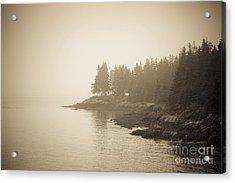 Foggy Maine Coast Acrylic Print by Diane Diederich