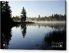 Foggy Morning Acrylic Print by Larry Ricker