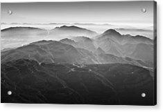 Foggy Mountains Acrylic Print by Nadya Ost