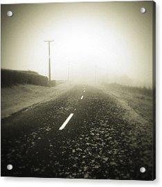 Foggy Road  Acrylic Print by Les Cunliffe