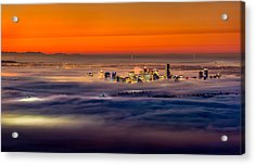 Foggy Sunrise Acrylic Print by Alexis Birkill