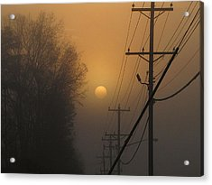 Foggy Sunrise Acrylic Print by Greg Simmons