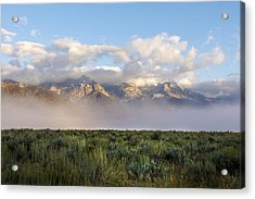 Foggy Teton Sunrise - Grand Tetons National Park Wyoming Acrylic Print by Brian Harig