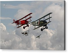 Fokker Squadron - Contact Acrylic Print by Pat Speirs