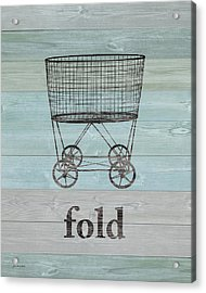 Fold On Wood Acrylic Print by Jo Moulton