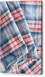 Folded Fabric Acrylic Print by Tom Gowanlock