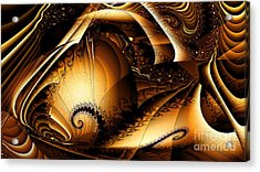 Folds In Time Acrylic Print by Peter R Nicholls