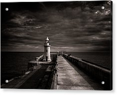 Folkestone Lighthouse Acrylic Print by Ian Hufton