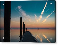 Acrylic Print featuring the photograph Follow Me by Thierry Bouriat