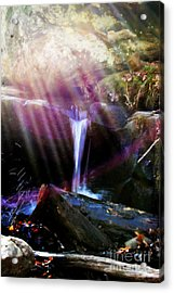 Follow  The Light Acrylic Print by Peggy  Franz