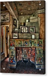 Fonthill Castle Bedroom Fireplace Acrylic Print by Susan Candelario