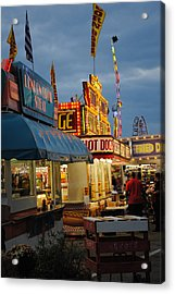 Food Court Acrylic Print by Skip Willits