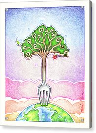 Food For Life Acrylic Print by Pop Art Diva