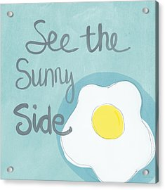 Food- Kitchen Art- Eggs- Sunny Side Up Acrylic Print by Linda Woods