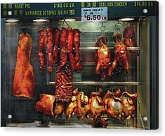 Food - Roast Meat For Sale Acrylic Print by Mike Savad