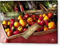 Food - Vegetables - Sweet Peppers For Sale Acrylic Print by Mike Savad