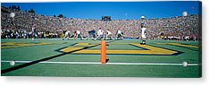 Football Game, University Of Michigan Acrylic Print by Panoramic Images