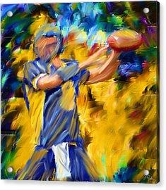 Football I Acrylic Print by Lourry Legarde