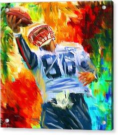 Football II Acrylic Print by Lourry Legarde